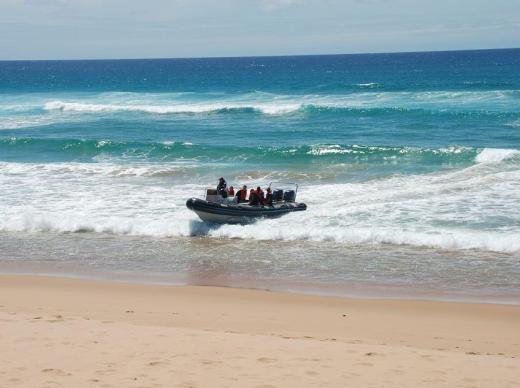 beaching the boat