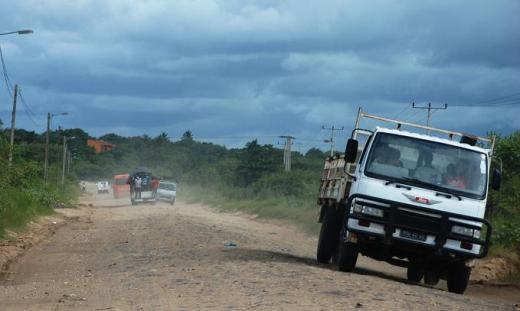 rough road