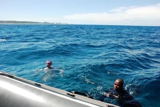 Happy snorkeler.