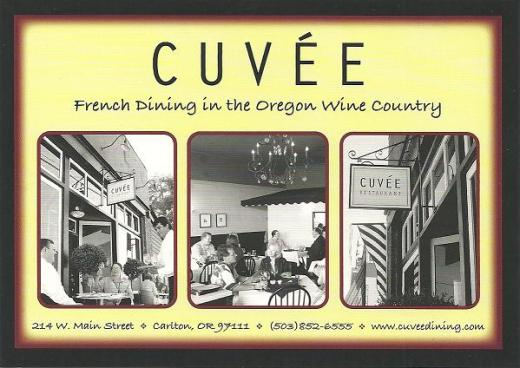 Cuvee, French dining in the Oregon Wine Country