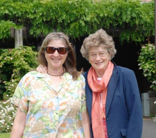 My mother and sister outside Montinore's tasting room