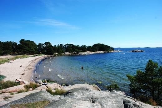 beach from rocks