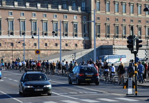 Bicycle rush hour in Stockholm