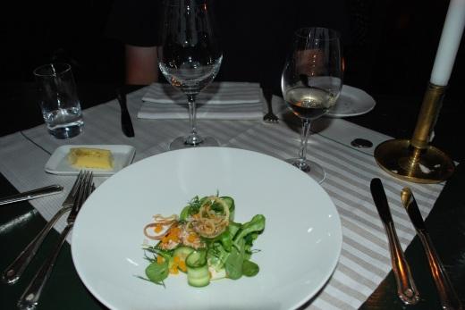 Crab salad at Den Gyldene Freden
