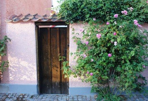Front door to a home in Visby