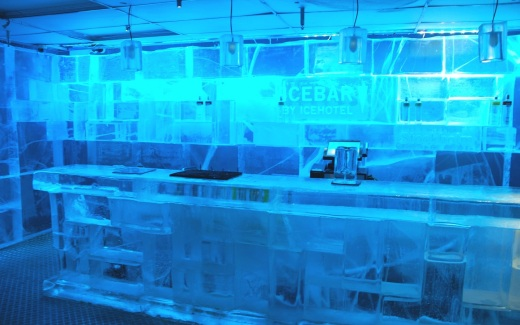 The Ice Bar in the Nordic Sea Hotel