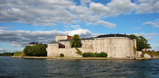 The Kastellet, a small island fort near Vaxholm.  This is the b&b where we spent two nights.