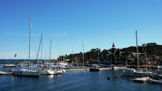 Sandhamn from the ferry as we departed.