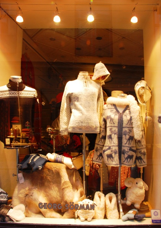 A Gamla Stan shop window.