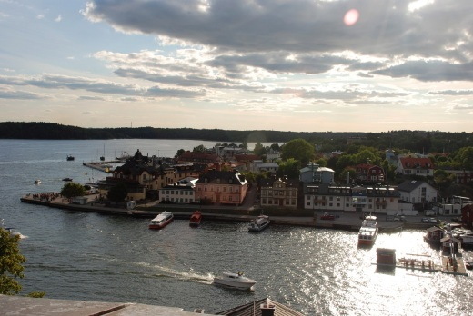 Vaxholm, taken from the top of the tower on the Kastellet