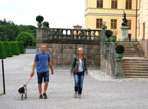 This dog was walking the grounds of the palace at Drottningholm, a UNESCO site.