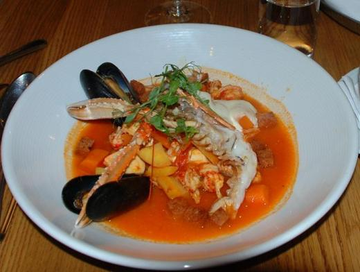 The fish soup at Marten Trotzig's in Gamla Stan