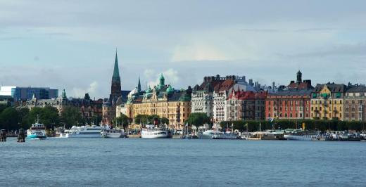 Stockholm waterfront with the Grand Hotel