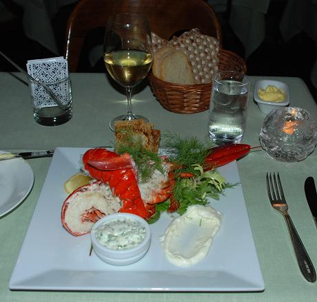 The lobster dinner at Fem Smo Hus