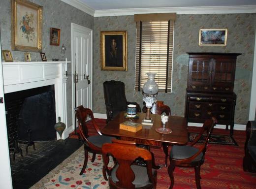 Aldrich House room, c. 1797.