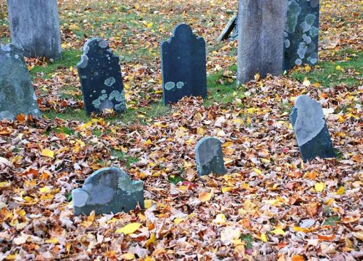 Old York burying place headstones.