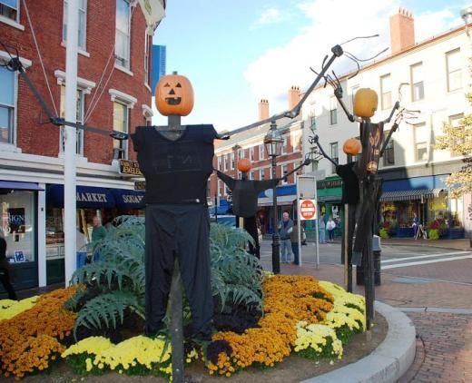 A Portsmouth NH street corner.