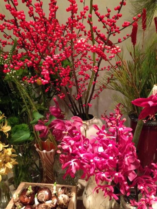 Flower arrangements at Fleurant in Kennbunk.