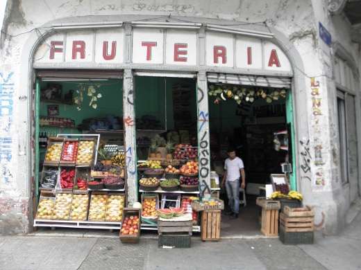 Fruit stand in Carlos Gardel's neighborhood