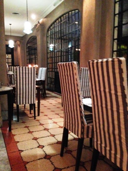 Inside 1884 Restaurante