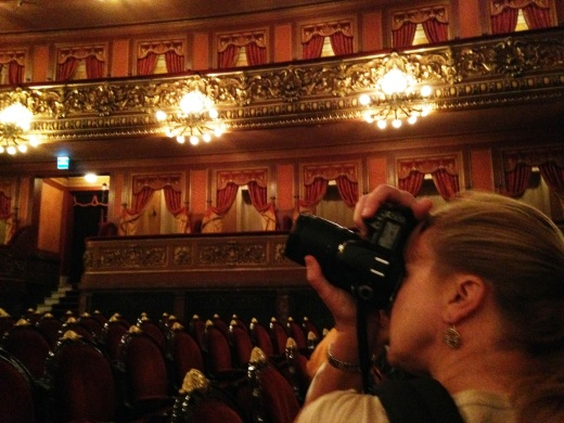My sister took this photo of me and my NIkon in the Teatro Colon, the last picture of me and my camera