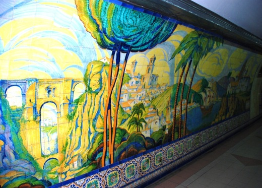 Subte staion tile art