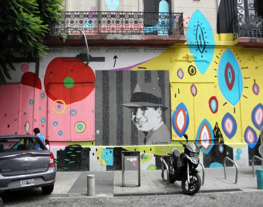 Carlos Gardel in tile