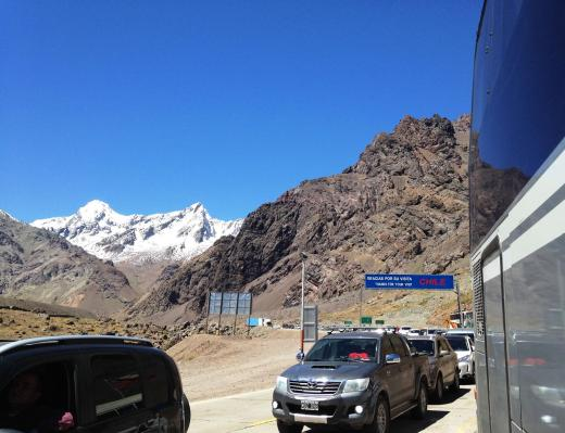 Looking back into Argentina from the pass