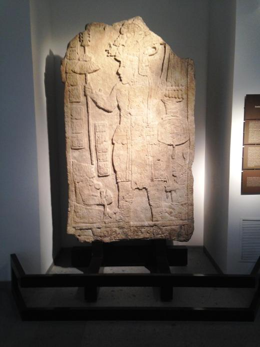 The Warrior King, a Mayan stela in the Mesoamerica section of the museum