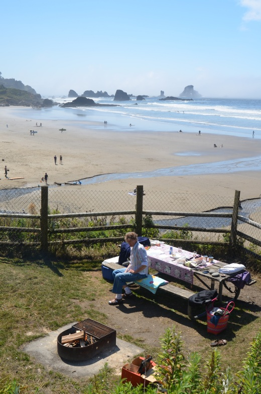 Our picnic spot at Indian Beach