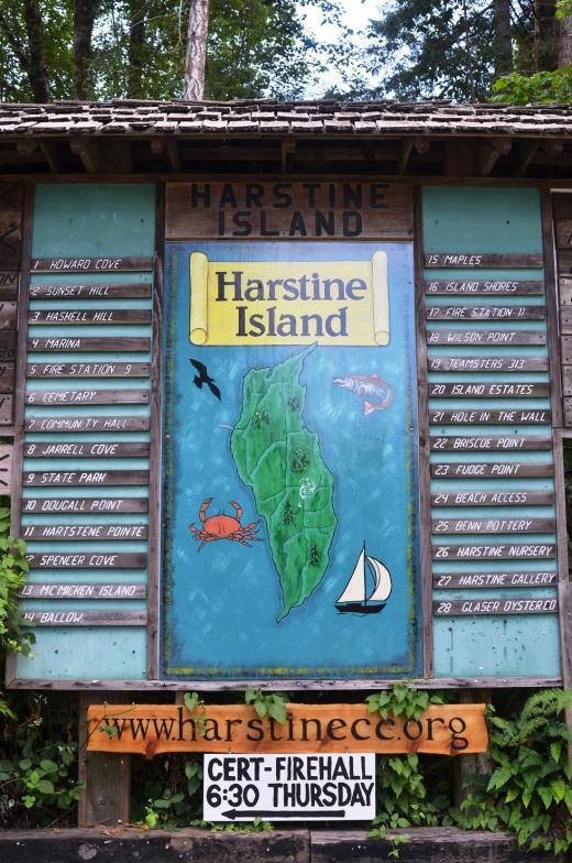 Harstine Island sign