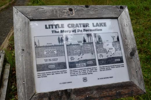 Little crater lake sign