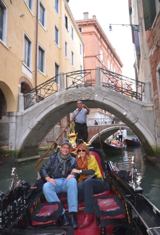 Augie and Teresa with Gondolier Nicoli.