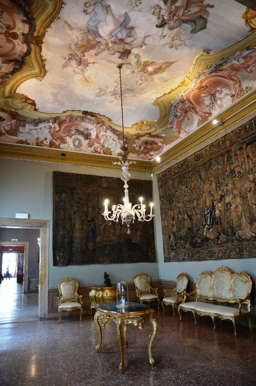 A drawing room in Ca' Rezzonico