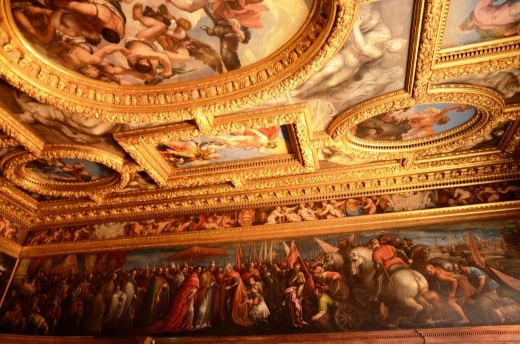 Painted ceiling, Trial Chamber of the Council of Ten, Palazzo Ducale