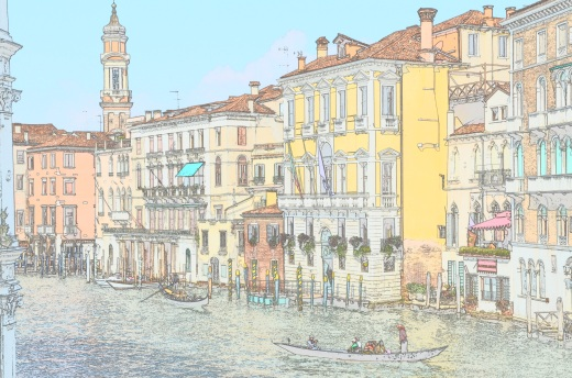 Colorsketch of grand canal