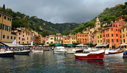The view from the ferry dock, Portofino
