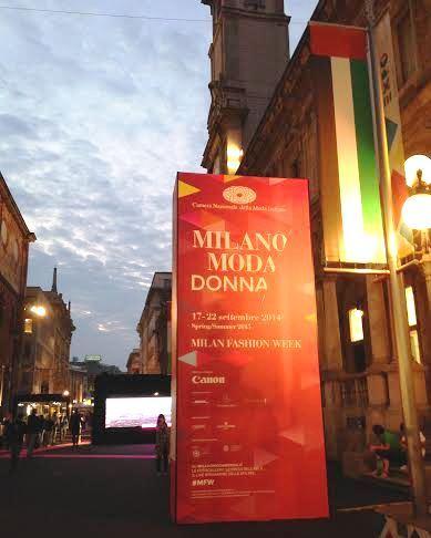 Fashion Week sign Milan