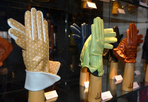Gloves in a shop window.  There are many glove shops in Venice