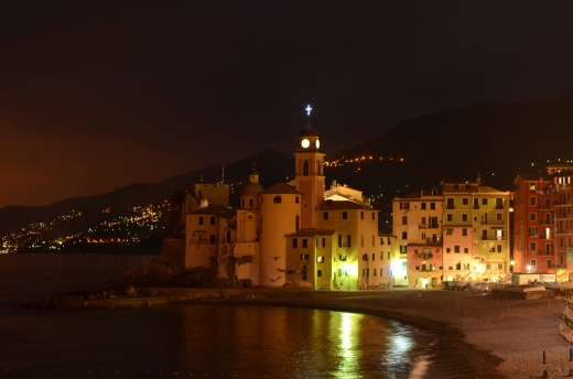 Camogli at night