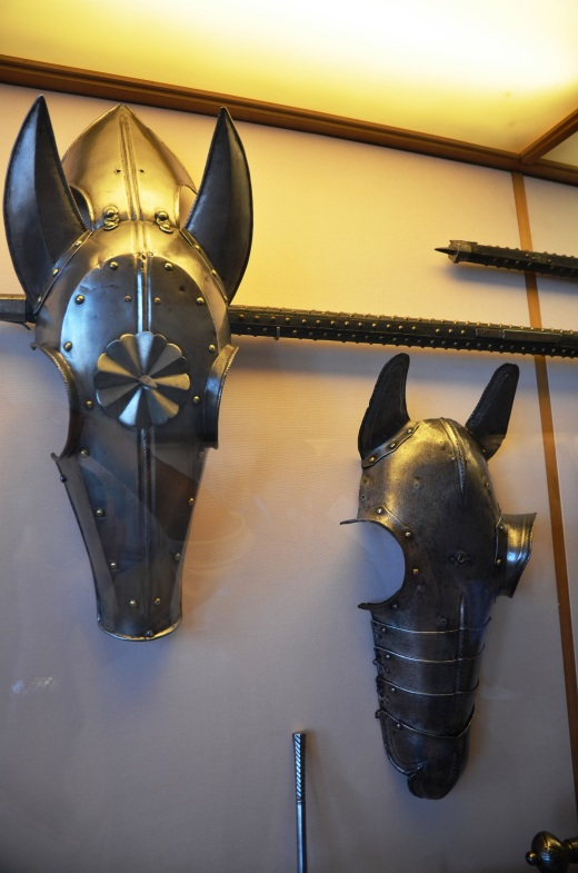 Armor for horses in the armory