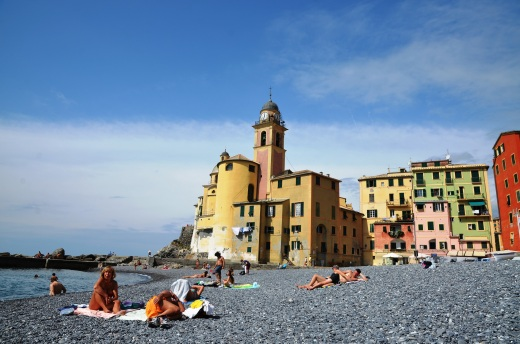 Italians on the beach