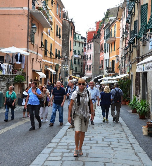 Me on the main street of Vernazza