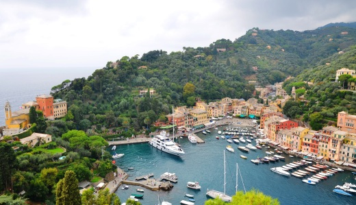 A few of Portofino as taken from the best viewpoint, the Brown Castle