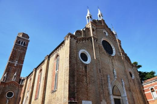 The exterior of Santa Maria Gloriosa dei Frari