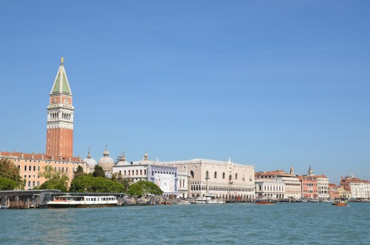 Palazza Ducale and Campanile taken from Punta della Dogana