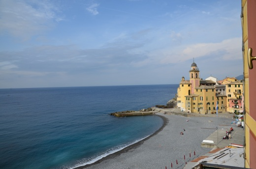View from our apartment window.  Camogli