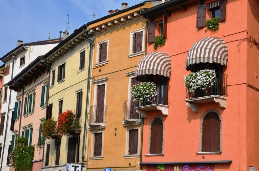Colorful buildings in Verona