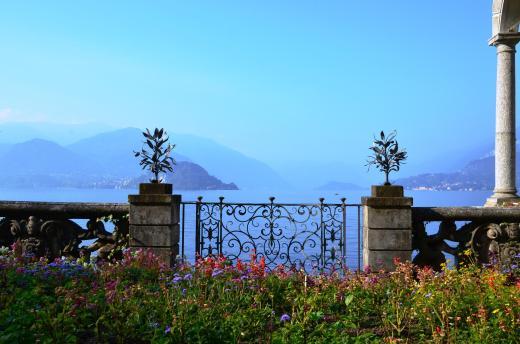 View of Lake Como from the gardens at Villa Monastero