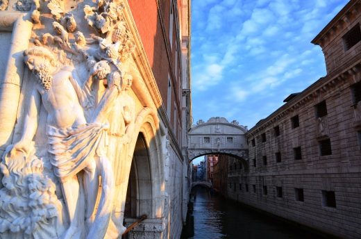 The Drunkenness of Noah, plus the Bridge of Sighs in the pink glow of the early morning.